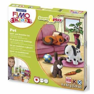 Huisdier hobby pakket Fimo kids